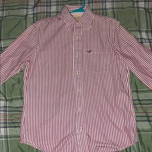 Hollister Men's long sleeve dress shirt